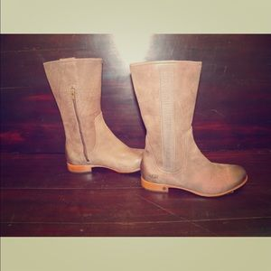 New UGG Womens Annisa Chocolate Brown Leather Boot